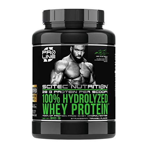Scitec Nutrition 100% Hydrolyzed Whey Protein, 910 g Dose (Erdbeer-Tiramisu)