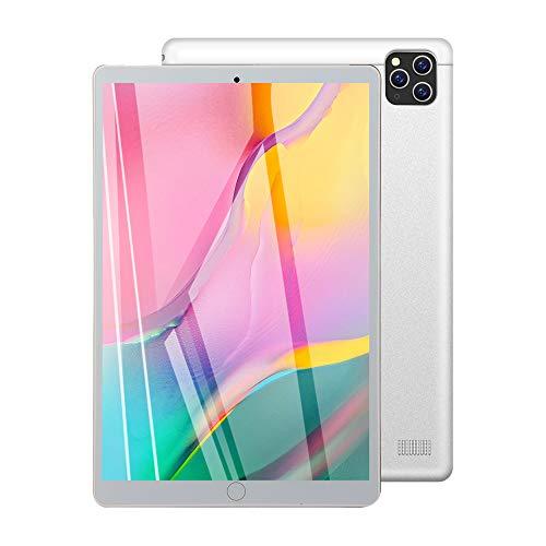Tablet 10 Zoll, Dual-SIM/WiFi, Android-Betriebssystem, 32GB ROM / 128GB Expand, Octa-Core-Prozessor, 4000mAh-Akku, Dual-Kamera, IPS HD Display, Bluetooth/GPS/OTG,Silber