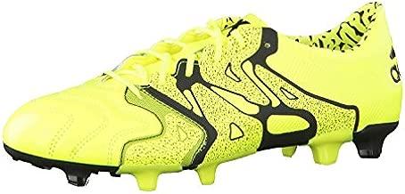 adidas X 15.1 FG/AG Leather Mens Football Boots Soccer Cleats (UK 7.5 US 8 EU 41 1/3, Yellow Black B26979)