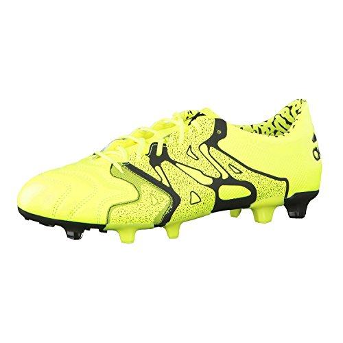 adidas X15.1 FG/AG Leather, Herren Fußballschuhe 46 Lima/Schwarz