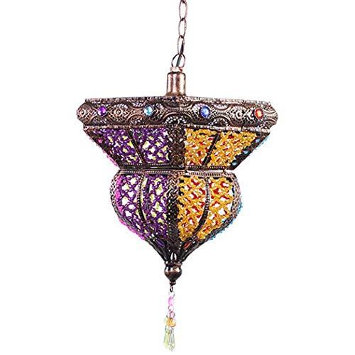 GYC Araña árabe turca Tiffany marroquí Lámpara de Techo Colgante Pantalla de acrílico Multicolor Dormitorio de Bricolaje Sala de Estar Comedor Cocina Decoración Colgante