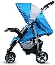 MU Sillas de paseo cómodas Silla de paseo, cochecito de bebé Sistema de viaje Bebés y niños pequeños Trolley Sombrilla ligera Coche plegable Se puede sentar Reclinable Cochecito de bebé Trolley de tr