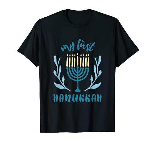 This is My First Happy Hanukkah Menorah Festival Chanukah T-Shirt