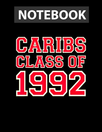 St. Croix Central High School Caribs Class Of 1992 / Notebook CollegeRuled Line / Large 8.5''x11''