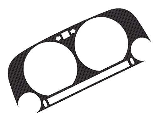 LETRONIX Tachoblende ECHT Carbon Tacho Blende Cover für Fahrzeug Tacho Golf 3, Vento, Polo 3 6n