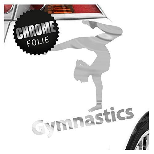 Kiwistar Gymnastics 9 x 11 cm IN 15 Farben - Neon + Chrom! Sticker Aufkleber