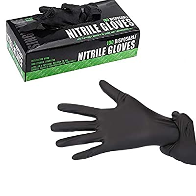 Tattoo Nitrile Disposable Powder Free Mechanic Textured Exam Gloves-3 Size - 100Pcs/Box
