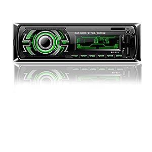 Honboom Radio Coche Bluetooth Autoradio Bluetooth   4 x 60 W 1 DIN FM Radio con Manos Libres Bluetooth   Coche Reproductor de MP3 con Control Volante   Admite RDS/AUX/USB/SD
