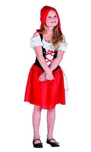 Boland- Cappuccetto Costume Bambina, Rosso/Bianco, 10-12 anni, 82198