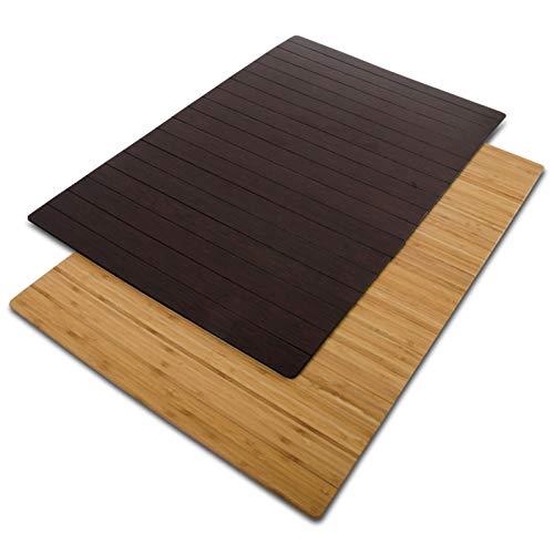 casa pura® Bambusmatte Emma | Testsieger Note 1,2 | Badematte & Saunamatte aus Bambus | 60x90cm | Zwei Farben (Dunkelbraun)