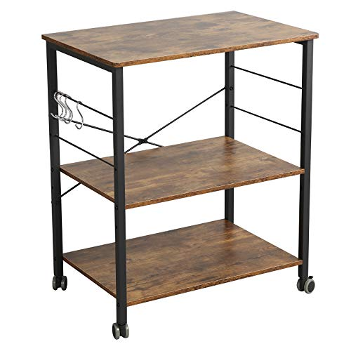 McNeil Rolling Baker's Rack 23.6' Wide Kitchen Utility...