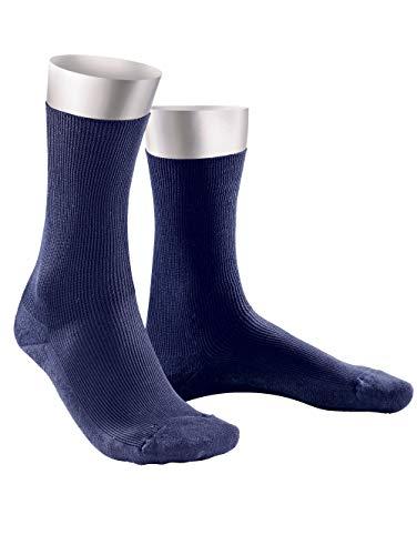 Weissbach Komfort-Socken ohne einschneidenden Gummibund Marineblau