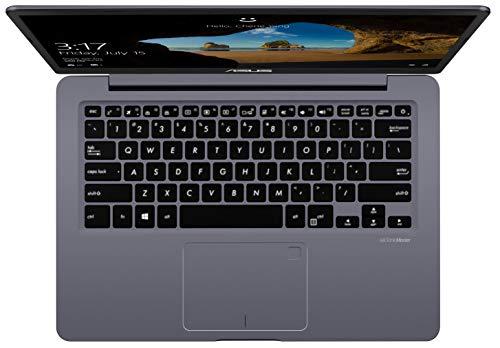 Asus VivoBook S14 S406UA 90NB0FX2-M01260 35,6 cm (14 Zoll Full-HD matt) Notebook (Intel Core i7-8550U, 16GB RAM, 256GB SSD, Intel UHD Graphics, Windows 10) grau metall