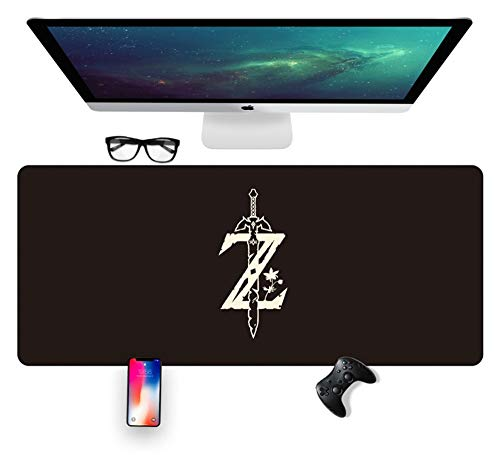 IGZNB Legend of Zelda 700X300Mm Mouse Pad,Extended XXL Large Professional Gaming Mouse Mat with 3Mm-Thick Base,for Notebooks, Pc,A