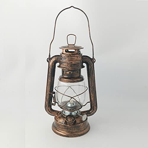 amanigo Iron Kerosene Oil Lamp - Vintage Hurricane Kerosene Lamp for Indoor and Outdoor Use