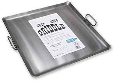 Chef King 7 Gauge Steel Griddle, 23 Inch x 23 Inch
