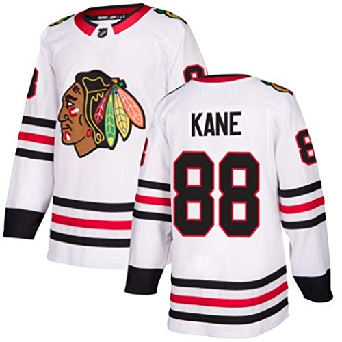 # 88 Hockey Trikots Sports Trainingskleidung NHL Männer Sweatshirts Atmungsaktiv T-Shirt 3D Kane Druck,Weiß,M