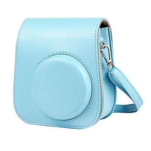 Kamera-Taschen Hülle für Instax Mini 11 Film Camera Sofortbildkamera, Kunstleder Schutztasche Kompaktkamera-Taschen mit Schultergurt & Tasche Case Cover (Blue)