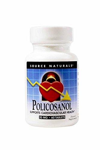 Source Naturals - Policosanol apoya la salud cardiovascular 20 mg. - 60tabletas