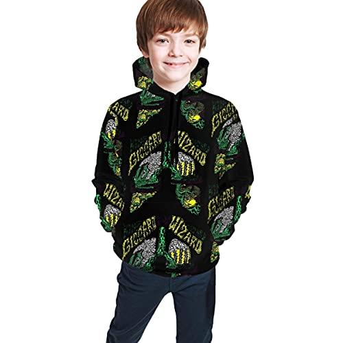 Jungen Kapuzenpullover Christmas King Gizzard and Lizard Wizard Black Teen Pullover Kapuzen-Sweatshirt mit Taschen Langarm