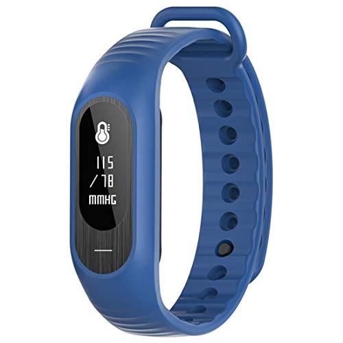 Bozlun Smartwatch für Damen und Herren, Android und iOS-kompatibel, wasserdicht, Fitness-Tracker mit Blutdruck, Herzfrequenz, Schlafüberwachung, Kalorien und Schrittzähler, Anrufnachricht, saphirblau