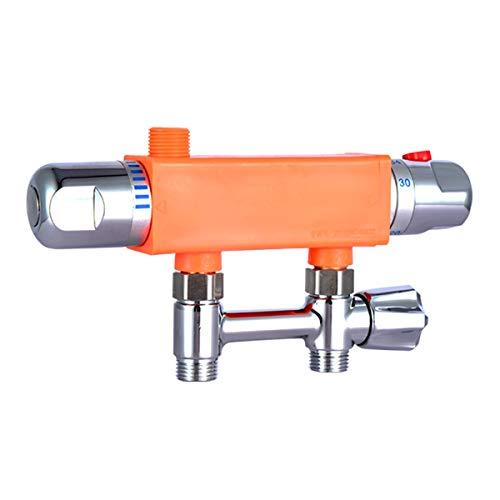 Válvula de mezcla termostática Mezclador de agua fría caliente Válvula de control de temperatura constante mezclador de ducha barra termostática Válvula de mezcla desviador para baño de cocina