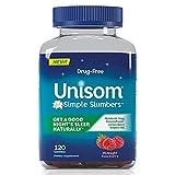 Unisom Simple Slumbers DrugFree Sleep Aid Gummies Melatonin 5mg Midnight Raspberry, Purple, 120 Count