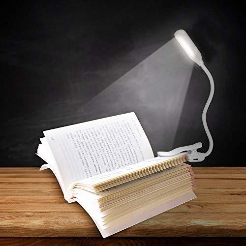 Ajcoflt Clip LED na luz de leitura Luz de livro com 3 níveis de brilho Lâmpada de leitura com modo de luz noturna Controle de toque suave