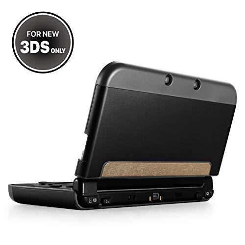 TNP Nueva Funda para Nuevo Nintendo 3DS Plástico Aluminio Compatible con el Nuevo Nintendo 3DS 2015 Protector de Superficie Externa Completa Nuevo Diseño Modificado sin Bisagras Color Negro