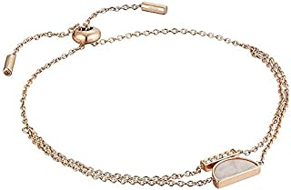 Fossil Women's Mosaic Pink Mother-of-Pearl Chain Bracelet