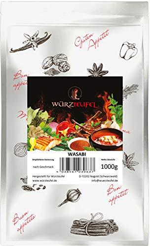 Wasabi, fein gemahlene Wasabi -Wurzel, Keimreduziert, Spitzenqualität. Beutel 1000g. (1KG)