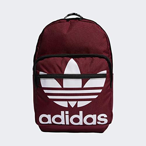 adidas Rucksack Trefoil Pocket, Unisex-Erwachsene, Rucksack, Originals Trefoil Pocket Backpack, Collegiate Burgund, Einheitsgröße