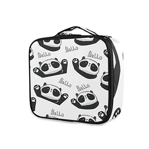 Trousse de toilette Organisateur Outils Cosmétique Train Case Noir Blanc Mignon Panda Cartoon Belle Stockage Maquillage Sac Portable Voyage