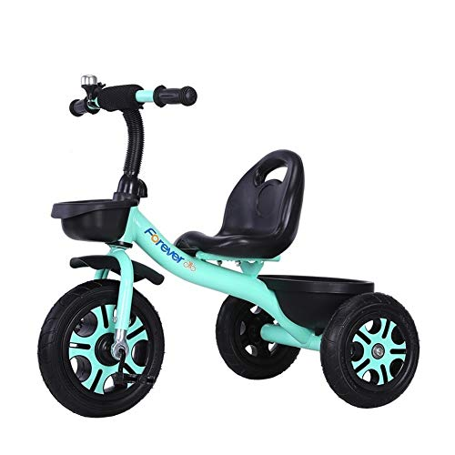 XIAOYANG Radio Flyer Tricycle Children Bicycle Baby Stroller Portable Kids Tricycle Comfortable Back Portable Seat with Bell Best for Gifts (Color : Green)