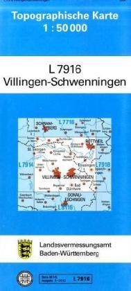 Villingen Schwenningen: Zivilmilitärische Ausgabe (Topographische Karten 1:50000 (TK 50) Baden-Württemberg (amtlich) / Normalausgabe (N): Grundriss, ... mit Strassenaufdruck wie Ausgabe (N))