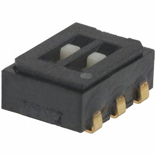 2 interruptores originales japoneses COPAL CAS-D20TA Mini DIP de 2 bits de 6 pines y 2 velocidades, 1,75 mm