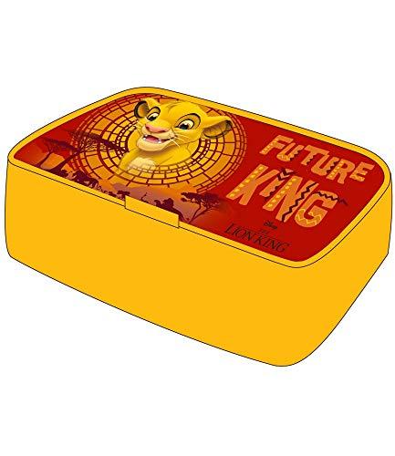 Disney Boîte à pain Le Roi Lion 17 x 12 cm Jaune/rouge