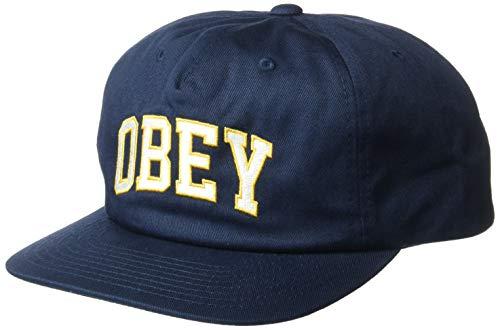 Obey Herren Dropout 5 Panel Snapback Baseball Cap, Navy, Einheitsgröße