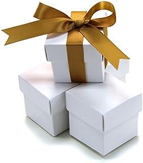 Koyal Wholesale 2-Piece 10-Pack Square Favor Boxes, White