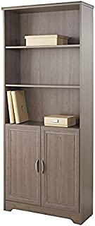 Realspace Magellan Collection 5-Shelf Bookcase With Doors, Gray Item # 572831