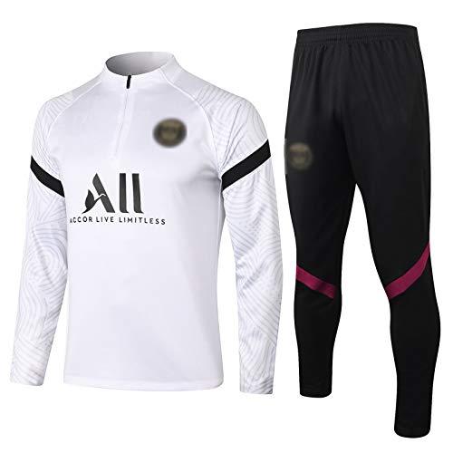 BVNGH Traje de Entrenamiento de Jersey de Fútbol de París, 2021 Nuevas Camisetas de fútbol para Hombres de Nueva Temporada, Camiseta Unisex Swingman Camiseta sin Mangas (S XXL
