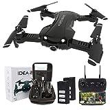 Drone Plegable con Camara 4K HD, 5GHz WiFi FPV Drone GPS, Drones RC con Camara Profesional, Modo sin Cabeza para Niños & Principiantes, Largo Tiempo de Vuelo 15 x 2 Minutos(2 baterias)
