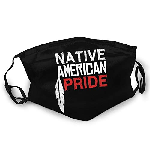 Face Mask for Women & Men Native American Pride Adjustable Reusable Cloth Washable Balaclavas Black