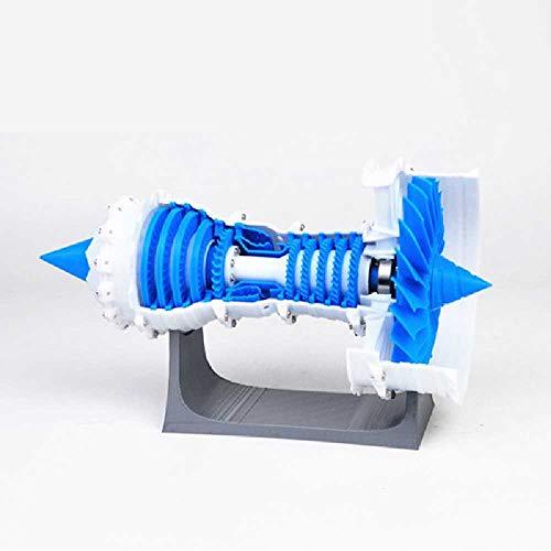 maofan Modelo De Motor Aero, Motor Turboventilador 3D, Modelo De Impresora Eléctrica Azul