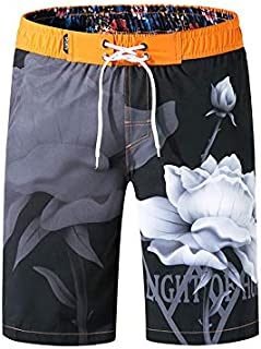 Swim Trunks for Men, Quick Dry Bathing Suit Workout Beachwear Holiday Party Board Shorts