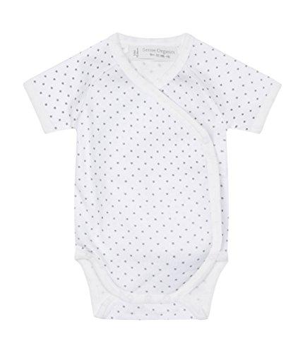 Sense Organics YGON Kurzarm-Wickelbody Unisex Body, Blanc-Weiß (AOP Little Stars 189001), 6 Mois Mixte bébé