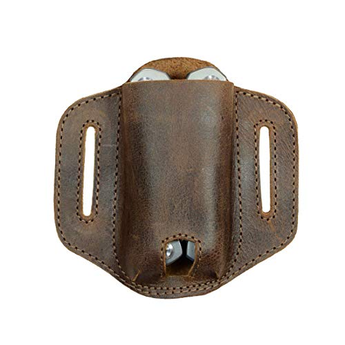 Hide & Drink, Rustic Durable Leather Multitool Holder for Belt, Knife Sheath, Camping & Outdoors Accessories, Holster for Gerber Legend, Handmade Includes 101 Year Warranty :: Bourbon Brown