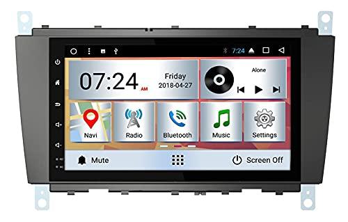 LIBINA GPS-Navigation, Kompatibel Mit Mercedes-Benz C-Klasse-800 Kapazitiver Touchscreen, Autoradio 10,2 Zoll Intelligente Sprachsteuerung Touchscreen Multimedia Player