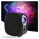 WJCCY Galaxy Starry Sky Proiettore Rotante Luce Notturna a Risparmio idrico LED Nebulosa Colorata Lampada a Nuvola Atmosfera Camera da Letto Accanto alla Lampada (Color : Black B, Size : with BT)