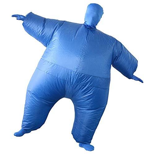 WANGIRL Traje Inflable Disfraz de Sumo Hinchable Traje de Adulto de Sumo Inflable Carnaval Cosplay Fancy Dress Disfraces Halloween Fiesta Novedad Juguetes Vestir (Color : Blue)